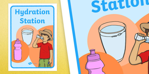 Hydration Station Display Poster
