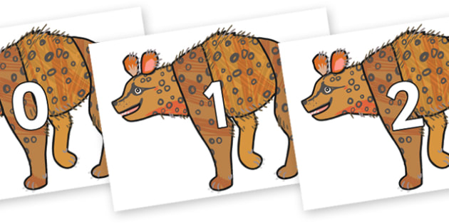 Numbers 0-31 on Hyena to Support Teaching on The Bad Tempered Ladybird - 0-31, foundation stage numeracy, Number recognition, Number flashcards, counting, number frieze, Display numbers, number posters