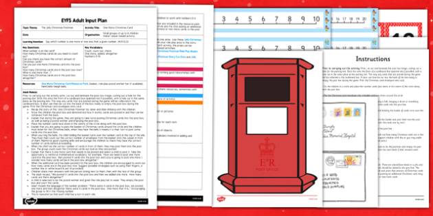 One More Christmas Card EYFS Adult Input Plan and Resource Pack to Support Teaching on The Jolly Christmas Postman - christmas, card