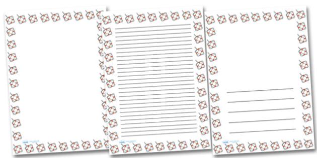 Life Belt Portrait Page Borders- Portrait Page Borders - Page border, border, writing template, writing aid, writing frame, a4 border, template, templates, landscape
