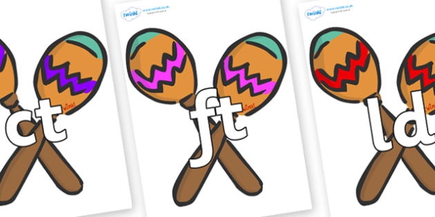 Final Letter Blends on Maracas - Final Letters, final letter, letter blend, letter blends, consonant, consonants, digraph, trigraph, literacy, alphabet, letters, foundation stage literacy