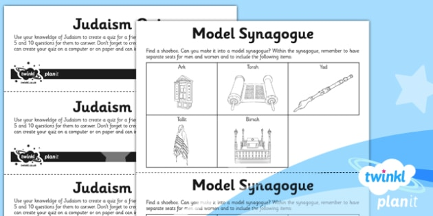 PlanIt - RE Year 3 - Judaism Unit Home Learning Tasks - planit, re, year 3, judaism, homes learning tasks