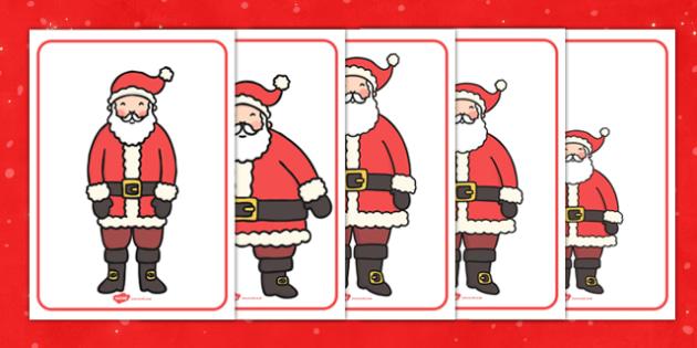 Santa Size Ordering - size, categorising, santa, activity
