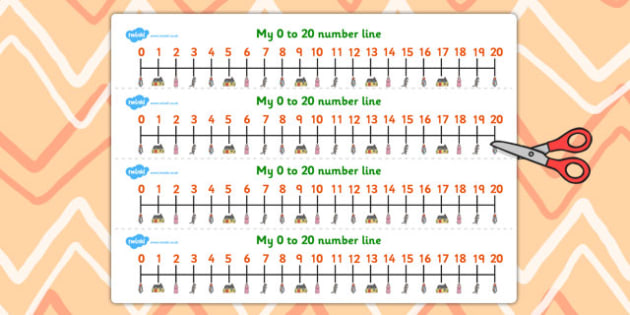 Little Red Riding Hood Number Lines 0-20 - Little, Red, Riding