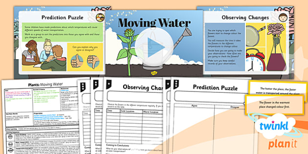 PlanIt - Science Year 3 - Plants Lesson 4: Moving Water Lesson Pack