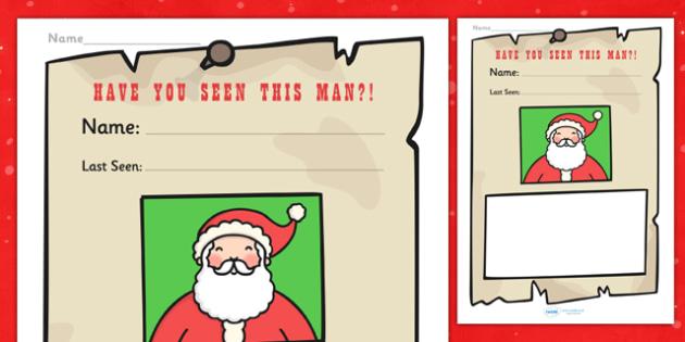 Santa Description Writing Frames - writing frame, frame, writing, writing aid, santa, santa description, writing template, template, literacy