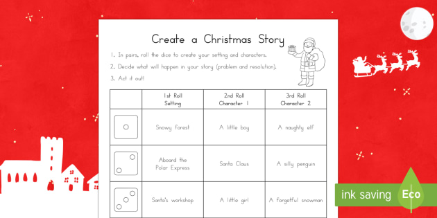 Create a Christmas Story Role Play Activity Sheet