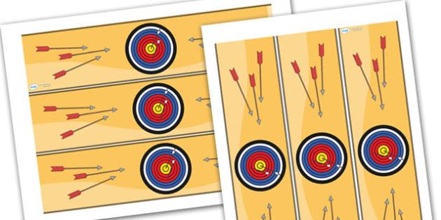 Archery Challenge Area Display Borders - archery, challenge, area, display, area display, classroom display border, display board, archery challenge