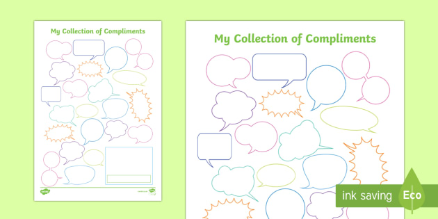 Collection of Compliments Activity Sheet