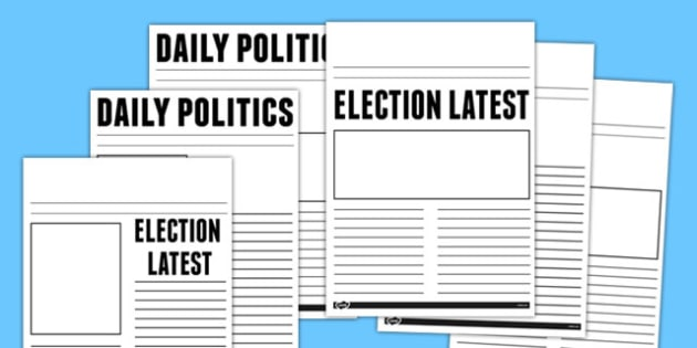 Election Report Newspaper Template - election, report, newspaper