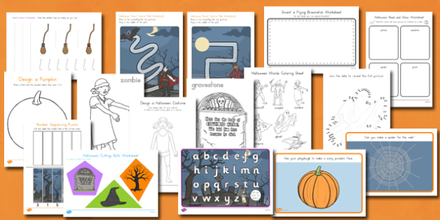 Halloween Themed Fine Motor Skills Resource Pack - pd, early years, writing, ks1, key stage 1, practise, topic, autumn, topic,