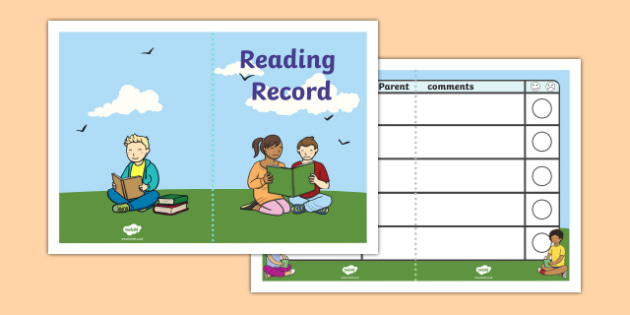 Reading Record Booklet - Reading record, record book, reading booklet, reading, literacy, read, parent, reading books
