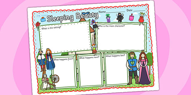 Sleeping Beauty Book Review Writing Frame - sleeping beauty, book review, writing frame, review writing frame, themed writing frame, writing template