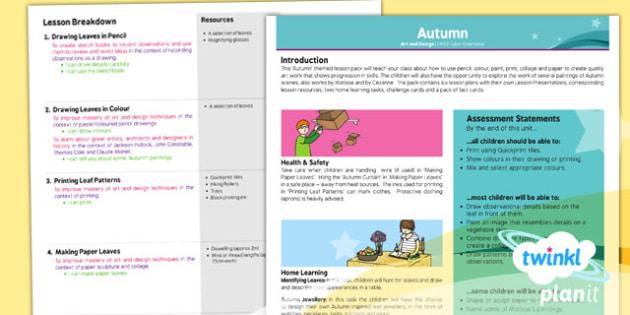 PlanIt - Art LKS2 - Autumn Planning Overview - planit, art, autumn