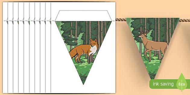Woodland Creature Display Bunting