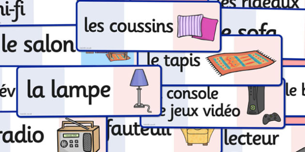 French Lounge Words Flashcards - french, lounge, words, cards