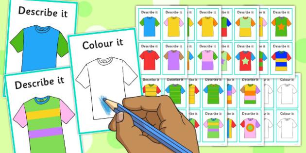describe it colour it t shirts game describe it colour