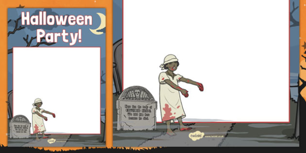 Halloween Party Editable Poster - festival, celebration, display