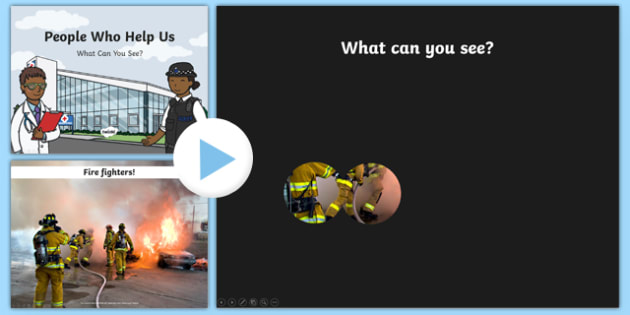 People Who Help Us What Can You See PowerPoint - people who help us, what, can, see, powerpoint, activity