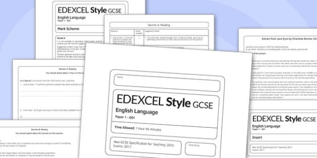 GCSE English Language Exam Paper 1 EDEXCEL - gcse, english, language, exam, paper, edexcel