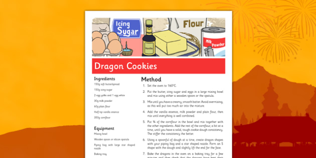 Dragon Cookies Recipe for Chinese New Year - dragon, cookies, chinese new year, recipe, dragon cookies