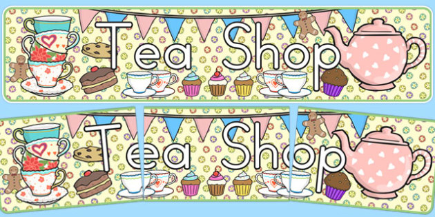 Tea Shop Role Play Banner - australia, tea shop, role-play, banner, display