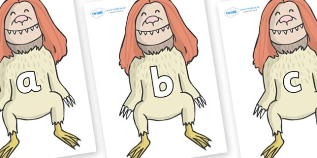 Phase 2 Phonemes on Wild Thing (2) to Support Teaching on Where the Wild Things Are - Phonemes, phoneme, Phase 2, Phase two, Foundation, Literacy, Letters and Sounds, DfES, display