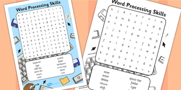 Word Processing Word Search - Word, Skills, Word, Search, Game