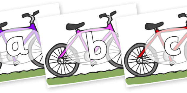 Phoneme Set on Bikes - Phoneme set, phonemes, phoneme, Letters and Sounds, DfES, display, Phase 1, Phase 2, Phase 3, Phase 5, Foundation, Literacy