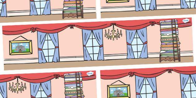 The Princess and the Pea Small World Background - The Princess and the Pea, Small World, backdrop, background, scenery, small world area, small world display, small world resources,prince, queen, princess, pea, castle, fairytale, traditional tale, Ha