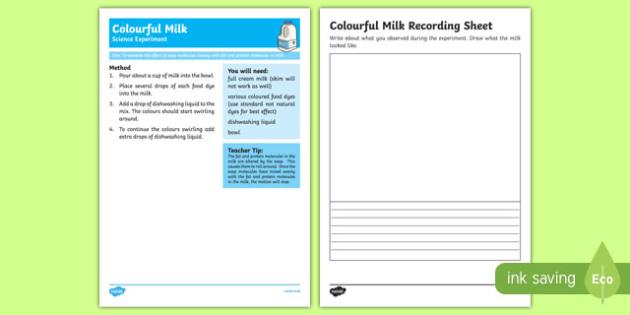 Colourful Milk Science Experiment-Australia