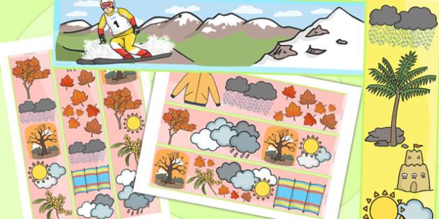 Winter Display Borders Temperate - seasons, weather, display