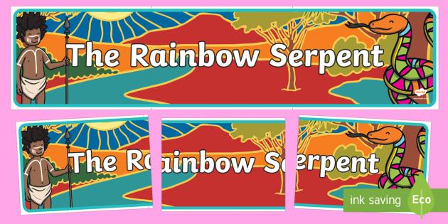 The Rainbow Serpent Display Banner