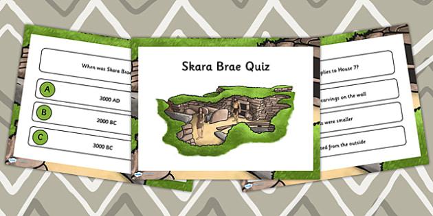Skara Brae Quiz PowerPoint - skara brae, quiz powerpoint, quiz