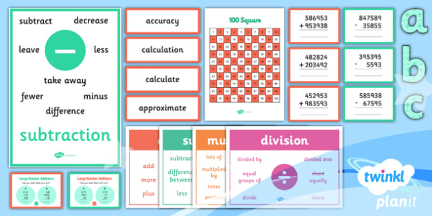 PlanIt Y5 Addition and Subtraction Display Pack - written methods, columnar addition, columnar subtraction, calculation methods