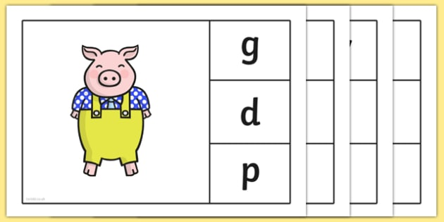 Initial Sounds Three Little Pigs Peg Matching Game - initial sounds, three little pigs, peg, matching, game, match, activity