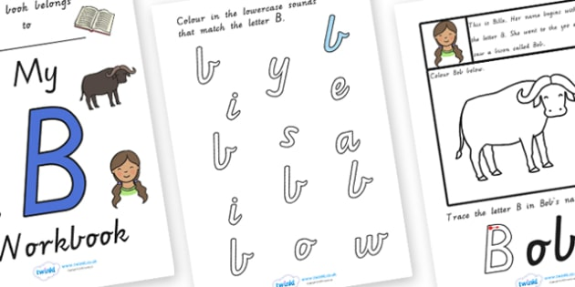 My Workbook B uppercase - letter formation, fine motor skills