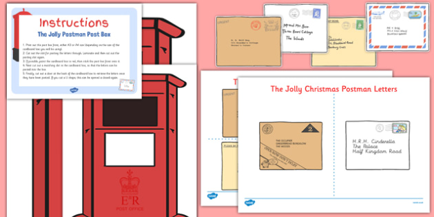 Post Box And Letters Resource Pack To Support Teaching On The Jolly Postman - post box, letters, resource, pack