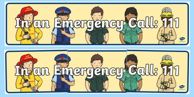 New Zealand 111 Emergency Display Banner - New Zealand Natural Disasters, earthquake, tsunami, volcano, monsoon, hurricane, flood, tornado