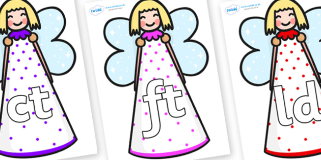 Final Letter Blends on Angels - Final Letters, final letter, letter blend, letter blends, consonant, consonants, digraph, trigraph, literacy, alphabet, letters, foundation stage literacy