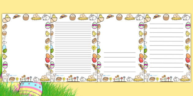 Easter Page Borders (A4) - Easter, Jesus, resurrection, christian, page border, border, writing template, writing aid, writing, A4, church, religious