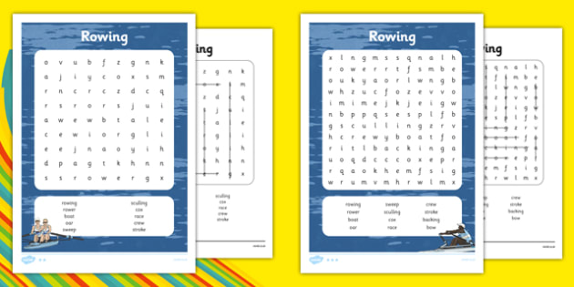 The Olympics Rowing Differentiated Word Search - the olympics, rio olympics, rio 2016, 2016 olympics, rowing, word search