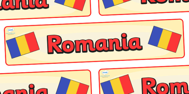 Romania Display Banner - Romania, Olympics, Olympic Games, sports, Olympic, London, 2012, display, banner, sign, poster, activity, Olympic torch, flag, countries, medal, Olympic Rings, mascots, flame, compete, events, tennis, athlete, swimming