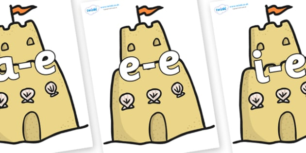 Modifying E Letters on Sandcastles - Modifying E, letters, modify, Phase 5, Phase five, alternative spellings for phonemes, DfES letters and Sounds
