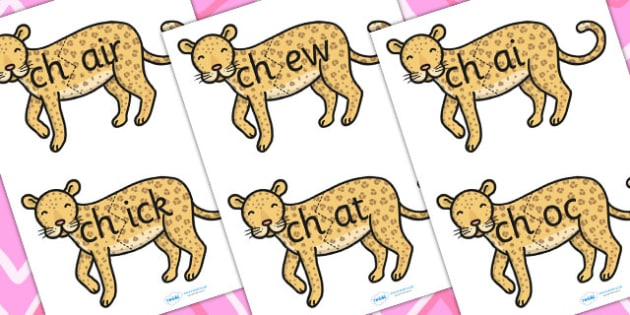 ch Sound And Vowel Animal Jigsaw - sound, vowels, jigsaw, animals