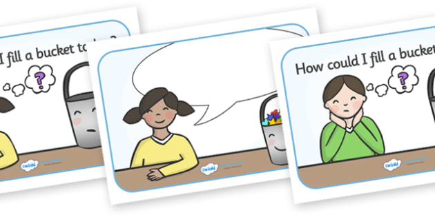 How Could I Fill a Bucket Today Posters (Editable) - have you filled a bucket today, filling buckets, Carol McCloud, how could I fill a bucket today, helping, making someone happy, happyness, children