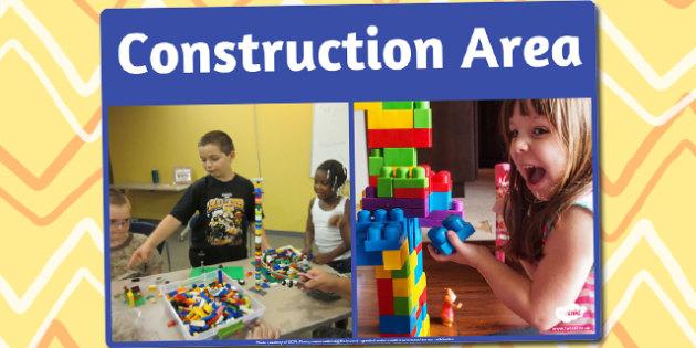 Construction Area Photo Sign - construction, area, photo, sign