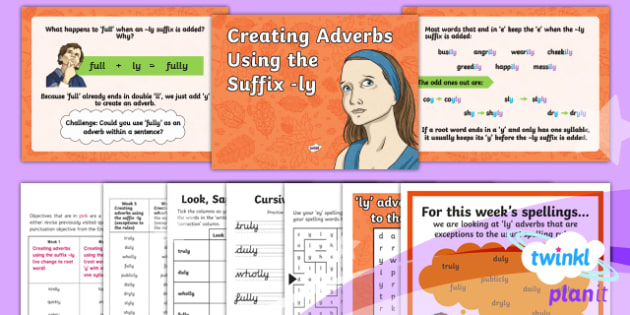 PlanIt Y3 Term 1B W5: 'ly' Adverbs ( Exceptions to the Rules) Spelling Pack - Spelling Packs, spelling, Y3, Year 3, spag, weekly, lists, test, SPaG, GPS