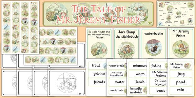 Beatrix Potter - The Tale of Mr Jeremy Fisher Story Sack - beatrix potter, mr jeremy fisher