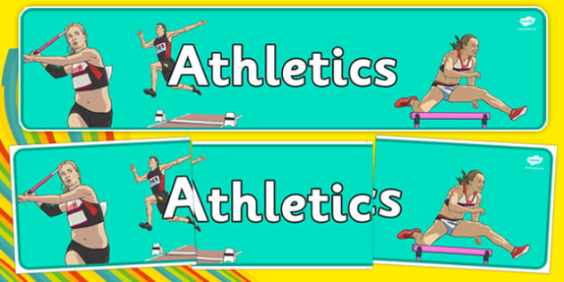 The Olympics Athletics Role Play Display Banner - Olympics, Olympic Games, sports, Olympic, London, 2012, display, banner, poster, sign, Olympic torch, flag, countries, medal, Olympic Rings, mascots, flame, compete, athletics, race, running, sprint,